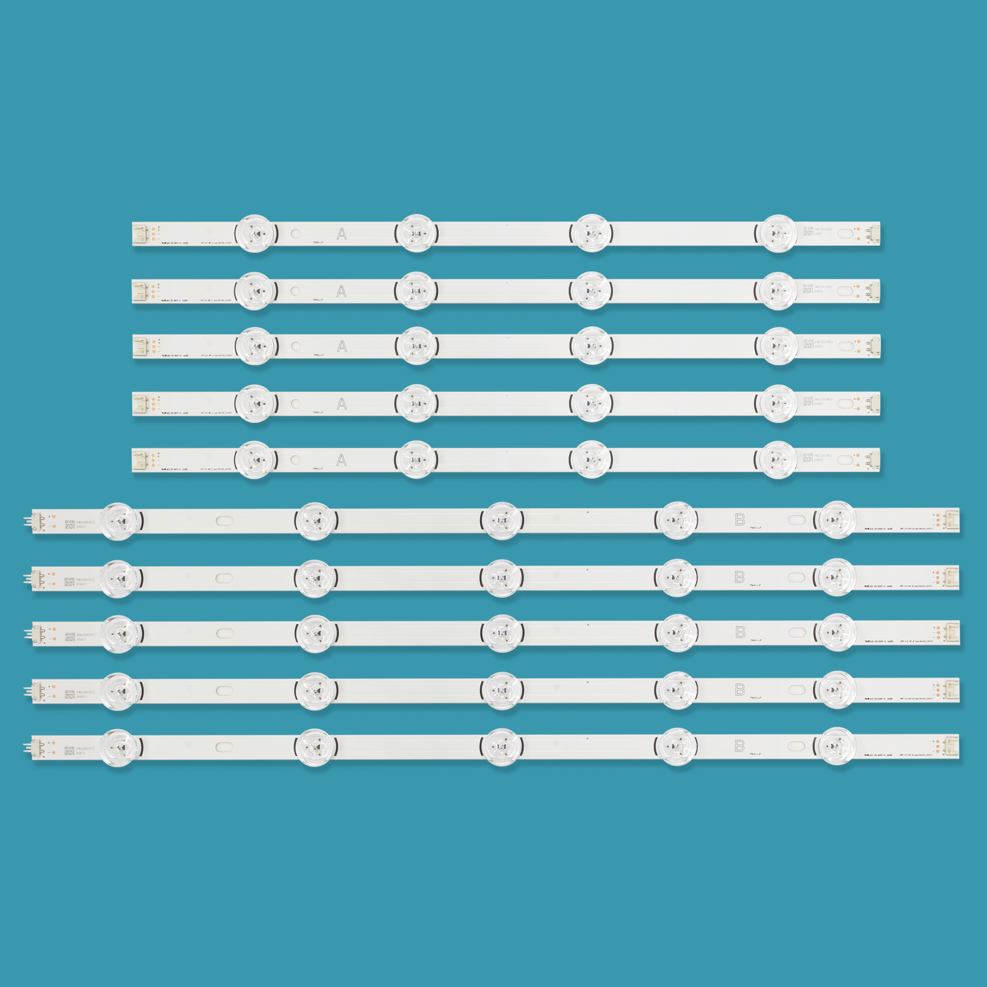 Nouveau 10 pièces/ensemble LED bande de Remplacement pour LG 49LB580V 49LB5500 Innotek DRT 3.0 49 B 6916L-1788A 6916L-1789A 6916L-1944A 1945A