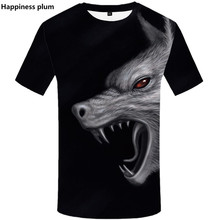 Wolf 3d print T shirts SUmmer Men t shirt  Casuat streetwear tshirt Funny short sleeve shirts 2019 Hip Hop Short Sleeve top tee short sleeve t shirt funny print west coast choppers tee men short sleeve tee best men s t shirts
