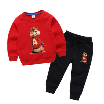 2019 Autumn Hot Sale New Alvin and the Chipmunks Sweatshirts Pants Sets boys girls tops Costume Alvin kids costume 2020 kids t shirts sets short sleeve alvin the chipmunks shirt boys girls t shirt clothes sets alvin costume kids shirts sets