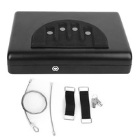 Portable Safe Valuables Jewelry Storage Box Digital Password and Spare Key Lock High Quality