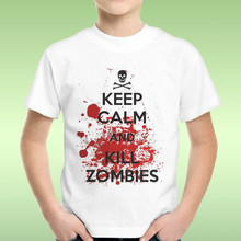 T-Shirt Baby Boy Keep Calm And Kill Zombies The Walking Dead Gift Idea  Cool Casual pride t shirt men Unisex New Fashion tshirt цена 2017
