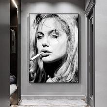 Black and White Retro Style Decorative Paintings Cool Smoking Woman Posters Print on  Canvas Cafe Bar Wall Art Pictures No Frame худи print bar egipet style
