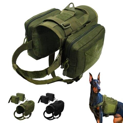 Arnês de Cão Treinamento à Prova Remendos para Médio Tático Militar Água Colete Arnês Destacável Molle Malotes Grande Cão Dk9 k9
