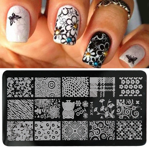 Image 2 - 1pcs Nail Designs Lace Stamping Image Plates Stainless Steel Nail Art Template Polish Painting Manicure Stencil Tools BEXYJ01 16