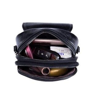 Image 5 - Moda torba na telefon komórkowy małe sprzęgła torba na ramię prawdziwej skóry kobiet mini torebka wysokiej jakości torebka Flap torby piersiowe