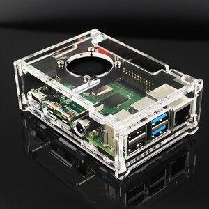 Image 5 - Raspberry Pi 4 modèle B 2 4 8 GB RAM + écran tactile 7 pouces + support + carte SD 64 32 GB + ventilateur + alimentation + câble HDMI pour RPi 4 B