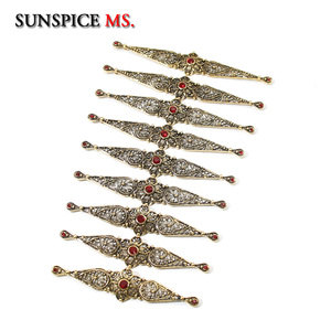 Image 4 - SUNSPICE MS Caucasus Ethnic Breastplate Wedding Belt Body Jewelry Accessories Metal Fstener For Women Bridal Gifts Wholesale
