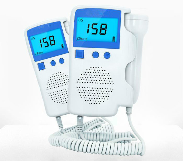 Fetal Doppler Detector Pocket Portable Household Pregnant Baby Ultrasound Heartbeat Sound Monitor No Radiation Stethoscope