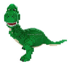Hot LegoINGlys makers klassieke Jurassic Tyrannosaurus Rex dinosaurus model mini micro diamant blokken nano bricks speelgoed voor geschenken(China)