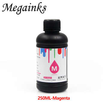 5 Bottle 250ML LED UV Ink for DX4 DX5 DX6 DX7 Printhead for Roland Mimaki Mutoh for A2 A3 A4 & Large Flatbed Inkjet Printer Soft