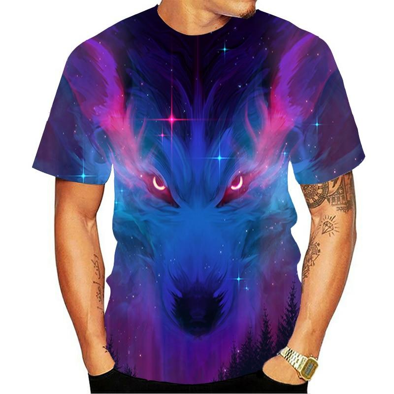 De Nieuwste Wolf 3D Gedrukt Animal Cool En Interessante T-shirt Mannen Korte Mouwen Zomer Shirt Tee Nieuwste 3D gedrukt Figuur Fas