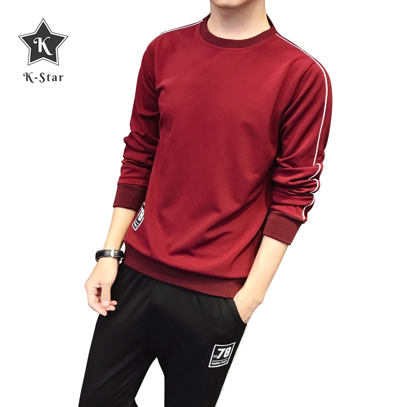K-Star Men's Spring New Trend Korean Sports And Leisure Suit  Tide Brand Sweater Men's Clothing Comfortable Loose Tracksuit Set