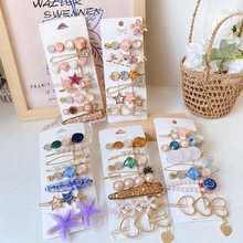 6/7/8Pcs/Set Korean Hair Clips For Women Arcylic Pearl Hairclip Trendy Hairpin Jewelry Female Hair Stick Gifts Hair Accessories