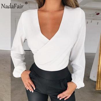 Long Sleeve Elegant Wrap Blouse