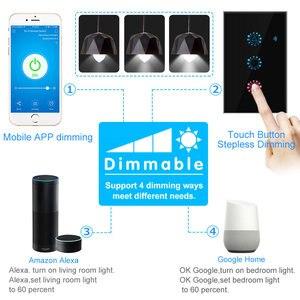 Image 4 - Умный светильник, диммер, стандарт США/ЕС, Wifi, Диммируемый сенсорный переключатель, работает с Alexa Google Assistant IFTTT 110 В 220 В
