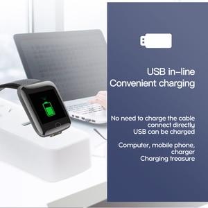 Image 4 - ブルートゥーススマートウォッチリストバンドスポーツフィットネスブレスレットスマートブレスレット血圧測定歩数計smartband腕時計