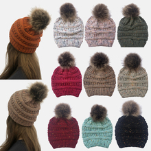 Comfortable Beanie Hat Autumn Winter Hats for Women Knit Hat Lady Gorro Outdoor Leisure Skiing Beanies Warm Hair Ball Wool Caps все цены