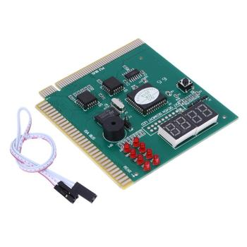 4 Digit LCD Display PC Analyzer Diagnostic Post Card Motherboard Tester with LED Indicator for ISA PCI Bus Mian Board