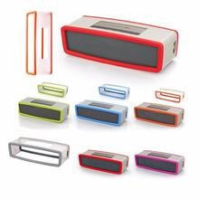 цена на Portable Silicone Case for Bose SoundLink Mini 1 2 Sound Link I II Bluetooth Speaker Protector Cover Skin Box Speakers Pouch Bag