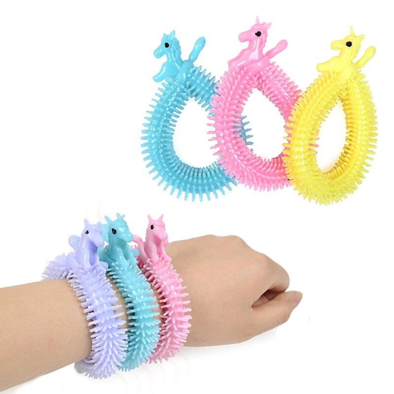 Anti-Stress Toys String Fidget Autism Worm Noodle Random-Color 3pcs Tpr-Rope img2