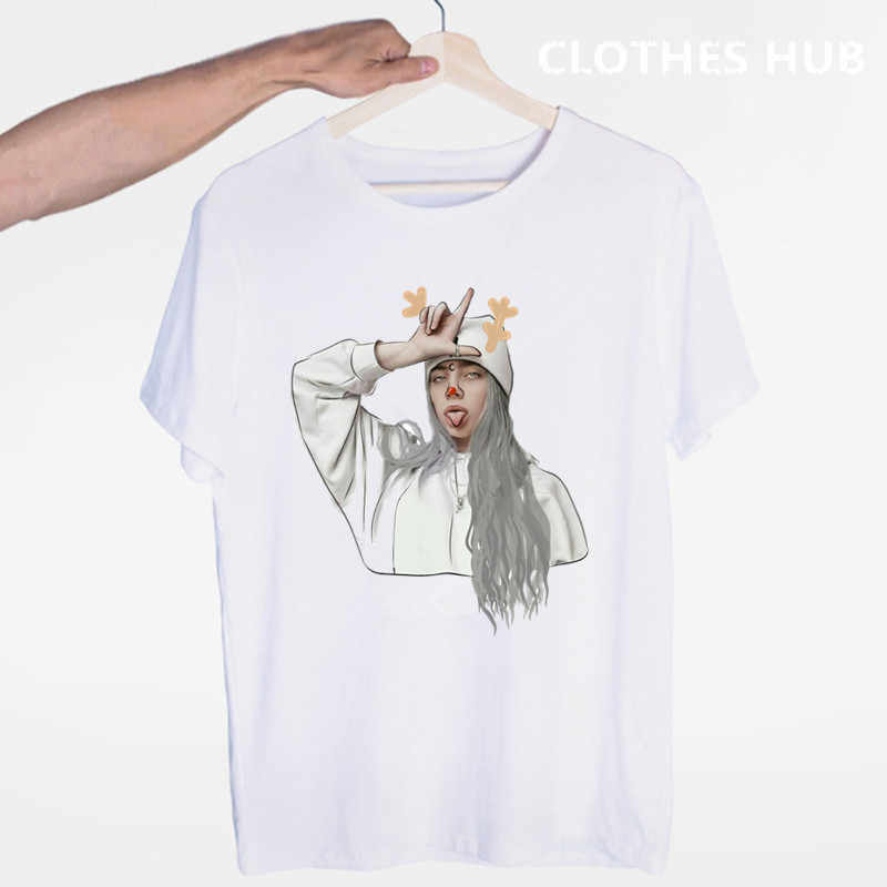 Hip Hop Billie Eilish T-shirt Casual T-shirt O-hals Korte Mouwen Zomer Vrouwen Tshirt Hoge Kwaliteit Tee Shirt Top