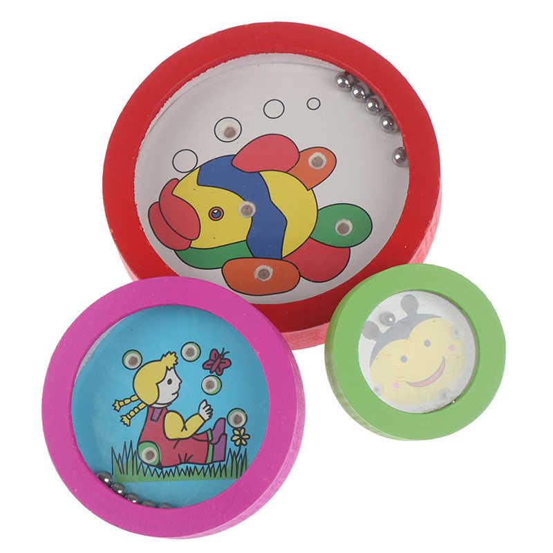 חיות מצוירות עגול עץ פאזל מגנט חרוזים חריץ מבוך לוח משחק צעצועים חינוכיים למידה מודיעין משחק לילדים