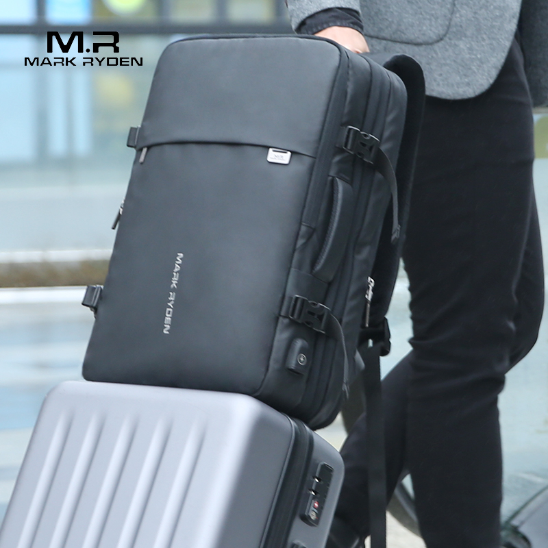 Mark Ryden homme sac à dos Fit 17 pouces ordinateur portable USB recharge multi-couche espace voyage homme sac Anti-voleur Mochila - 2
