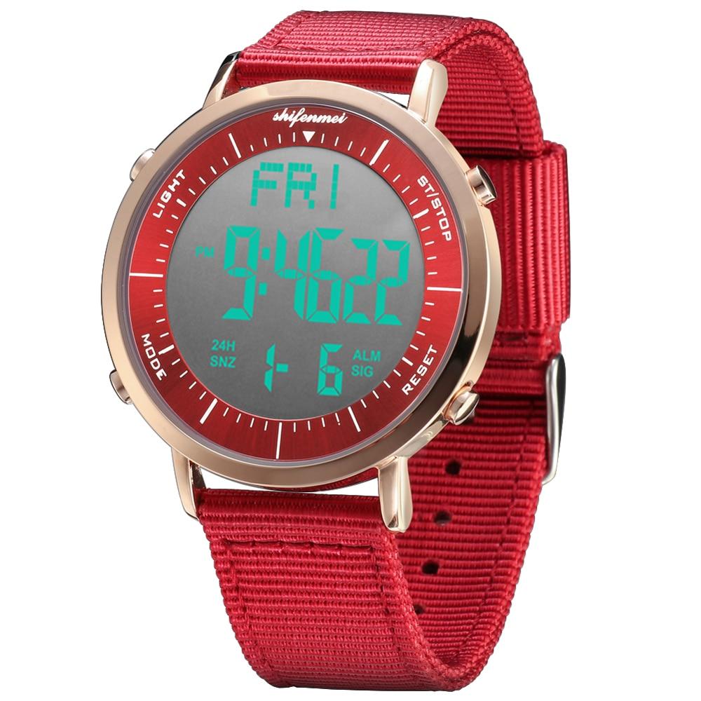 Shifenmei ultra thin ladies electronic watch ladies sports watch outdoor digital watch electronic wristwatch Relogio Masculino
