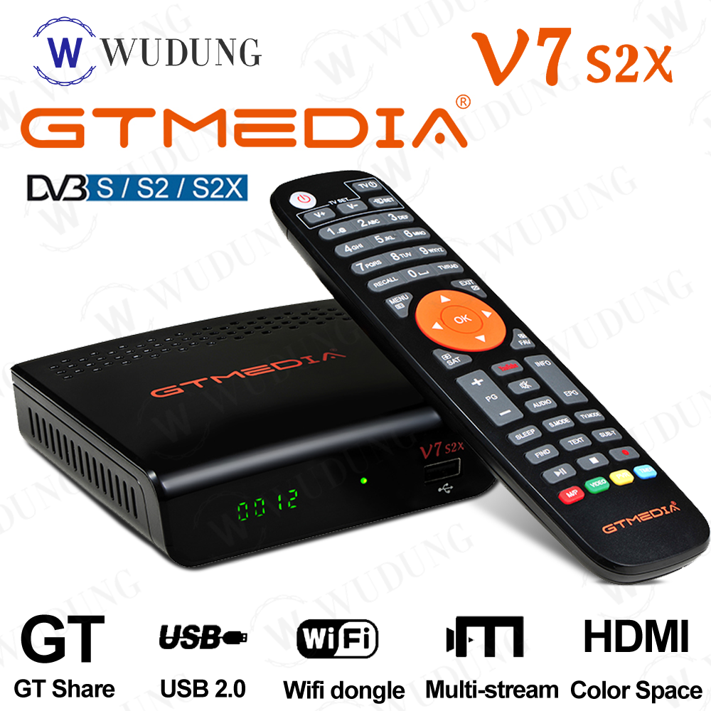 New GTMEDIA V7 S2X TV box Satellite TV Receiver DVB-S/S2/S2X AVS+ 1080P USB Wifi 3/4G dongle PowerVu Gtmedia V7s HD Set Top Box