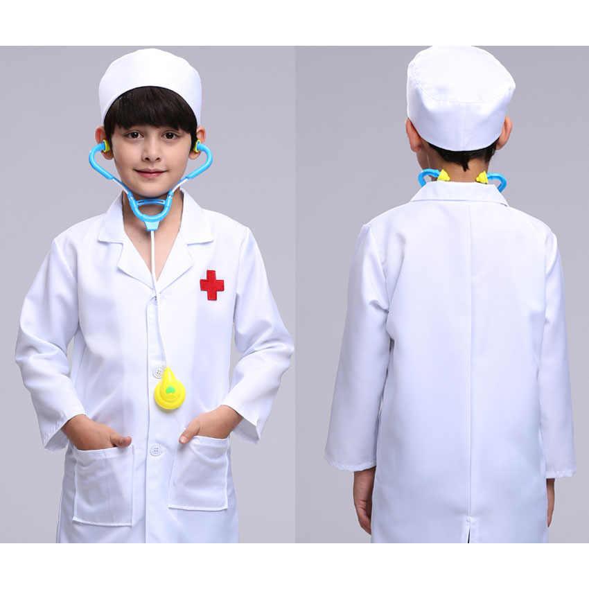 Детские костюмы косплей доктора; вечерние костюмы медсестры; нарядный комплект одежды для мальчиков и девочек; детские куртки для ролевых игр; оптовая продажа