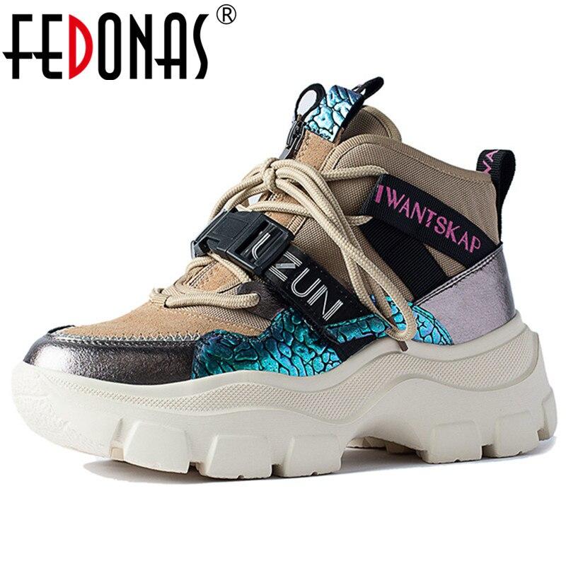 FEDONAS Classic Casual Female Flats Platform Shoes Woman Spring Summer Comfortable Women Flats Cross Tied Women Shallow Sneakers
