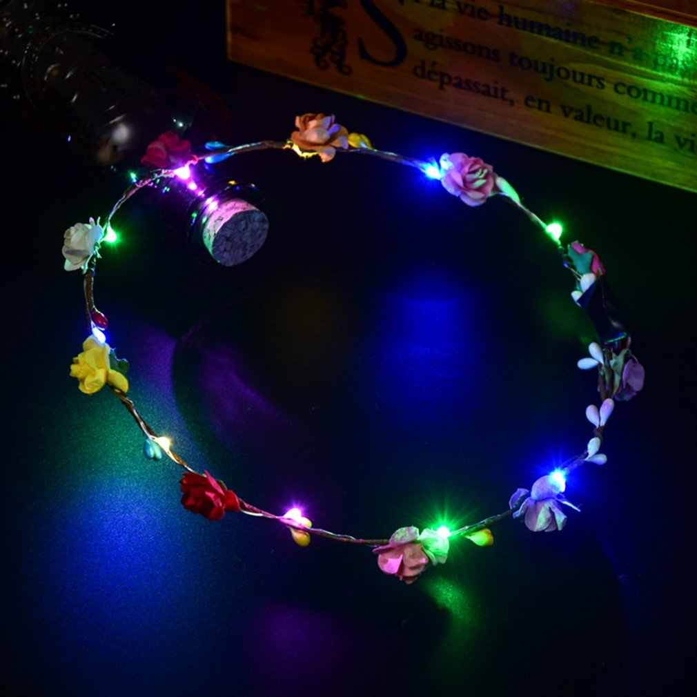 Glowing Wreath  LED Light Wreath Headwear Tourist Attraction Hair Ornaments Hairband decoration Accessories