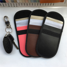 2019 thin Car key holder RFID Signal Shielding Package wallet woman men Antimagnetic Card Pouch leather organizer housekeeper