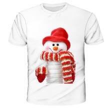 Рождественский подарок Рождественская футболка детская мультяшная