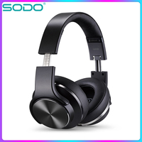 Original SODO MH5 Comfortable Wireless Headphone NFC 2 in1 Twist out Bluetooth Speaker Headphone with Microphone for PC & Mobile