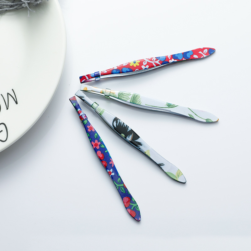 1Pc Eyebrow Tweezers Stainless Steel Hair Removal Eye Brow Removal Eyelash Clip Makeup Tools