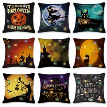 New LED Flashing Lights Halloween Pumpkin Series Home Decoration Pillowcase Decorations for