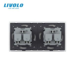 Image 5 - LIVOLO 16A French Standard, Wall Electric / Power Double Socket / Plug, Crystal Glass Panel,C7C2FR 11/12/13/15, no logo