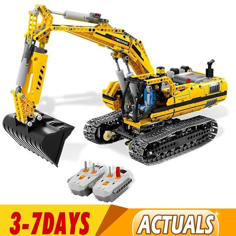 IN Stock DHL  Technic Car Toys Compatible with  20007 8043 90007 Motorized Excavator Toys Model Building Blocks Bricks Gifts 1