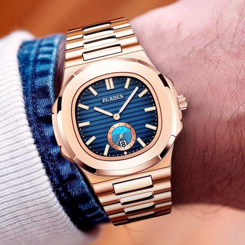 Classic PP NAUTILUS 5711 Designer PLADEN Brand Watch For Men Fully Steel Chronograph AAA Stianless Steel Luminous Business WatchQuartz Watches   -