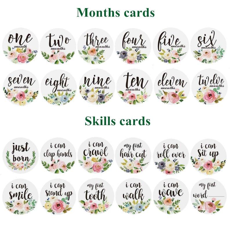 12Pcs Baby Monthly Stickers And Milestone Stickers Baby Girls And Baby Boys Belly Stickers First Year 12 Months Milestone Photo