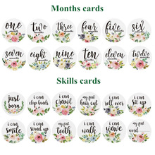 Milestone Stickers Baby-Girls 12-Months And First-Year 12pcs