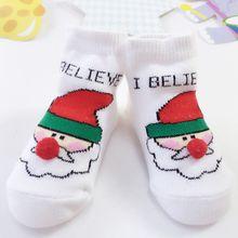 Cotton Winter Christmas Baby Socks Cartoon Santa Jacquard Children Kids Sock Gifts