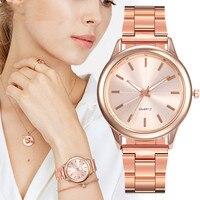 Bransoleta z różowego złota zegarek damski luksusowa marka małe panie Casual srebrny pas stalowy zegarek kwarcowy zegarki diamentowy zegar Lady