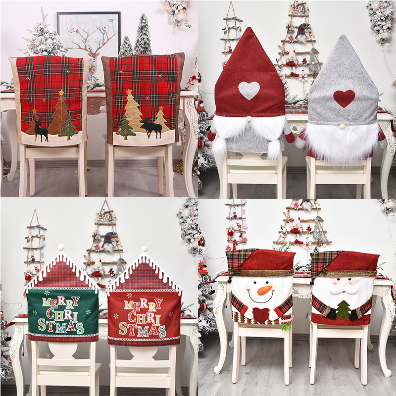 Dining Room Christmas Chair Cover Elastic Slipcovers Chair Covers Washable Stool Case Removable Festival Decor Big Sale 15d58 Cicig