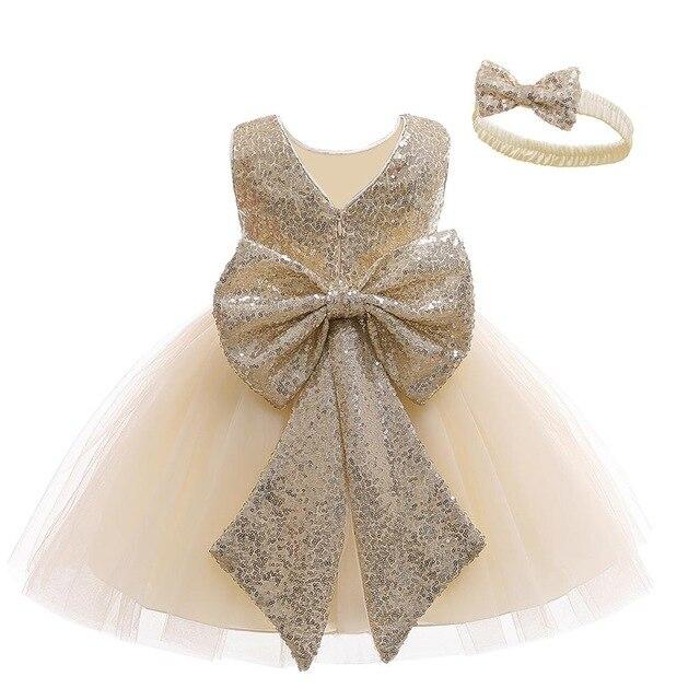 תינוקת בגדי Vestidos Infantil עבור בנות נסיכת שמלת תינוק 1 שנה הראשונה יום הולדת ילדה מסיבת שמלת יילוד חתונה שמלה