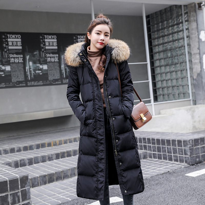 luxury womens down coats with fur collar miegofce 2019 winter outwear casual warm top brands jackets plus size black long slim