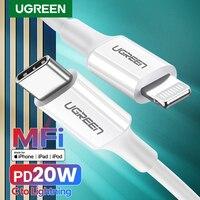 UGREEN MFi USB tipo C A Lightning Cable para iPhone 12 mini Pro Max PD18W 20W rápido Cable de datos de carga USB para Macbook de Cable