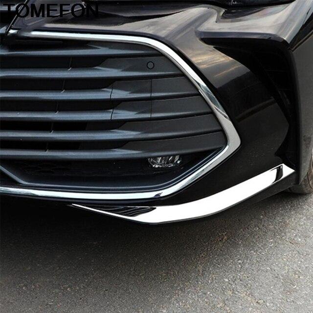 TOMEFON-couvercle de protection pour Toyota Avalon XX50 2019 | 2020, bande de pare-chocs avant, garniture de protection, accessoires extérieurs en acier inoxydable