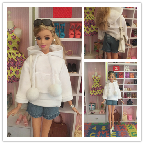 Doll Clothes Sweatshirt Coat For Blythe  Barbie Doll Clothes For Barbie Doll Outfits Pants Canvas Shoes 1/6 Dolls Accessories